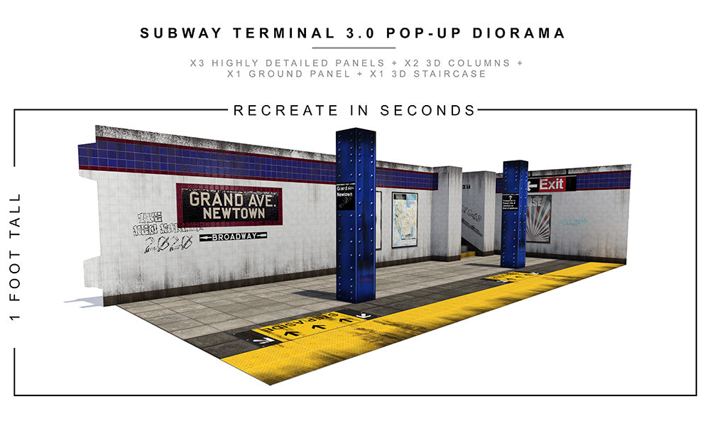 Subway Terminal 3.0 Pop-Up Diorama 1/12