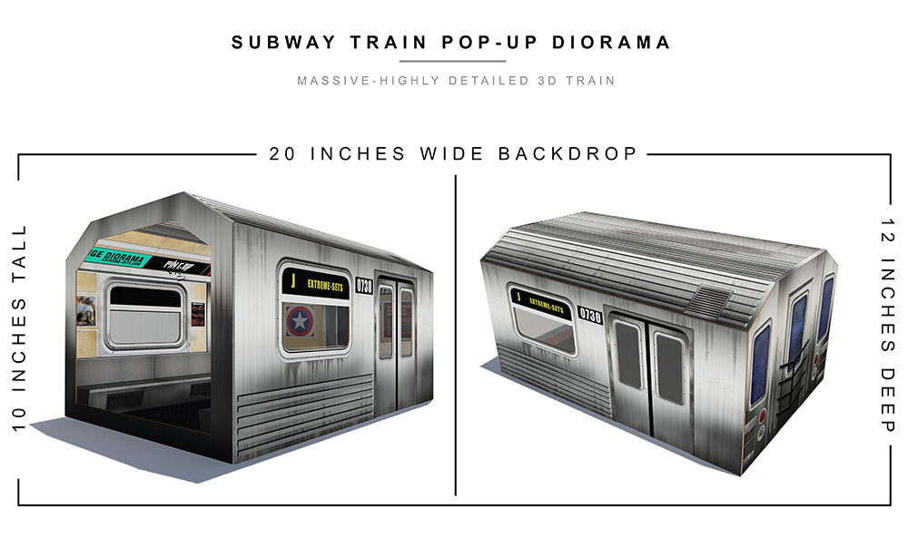 Subway Train Pop-Up Diorama