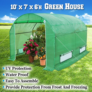 7 Ft. W x 10 Ft. D x 6Ft. H Greenhouse