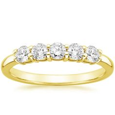 18K YELLOW GOLD LEAF SHAPED DIAMOND RING