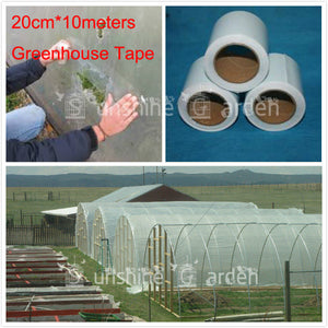 Extra Strong Greenhouse Film Repair Tape Patch  20cmx 10 Meters - Poly Tape UV Resistant  clear Color