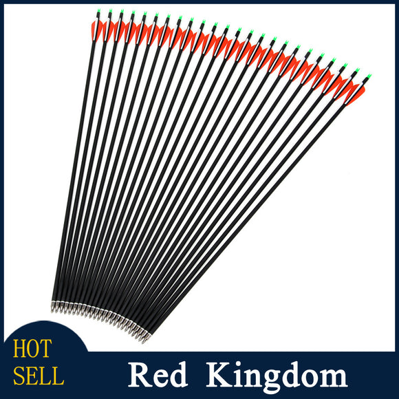 30pcs/lot 30 Inches Long Arrow Carbon,Archery Carbon Arrow Spine 500 for Recurve/Compound Bow Arrow Hunting Flecha Hunting