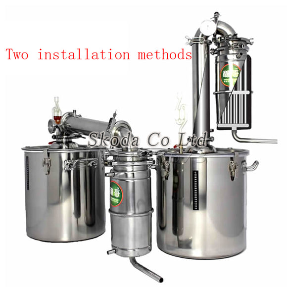 bar Brewery equipment wine limbeck distilled water baijiu household 25L hydrosol vodka maker brew alcohol whisky distiller