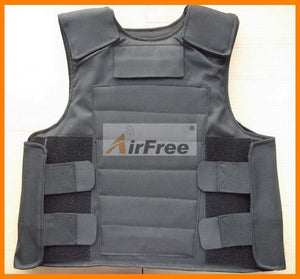 LOW PRICE GOOD QUALITY BULLETPROOF VEST.  FREE Shipping Kevlar Bulletproof Vest Body Armor Size M Black Color