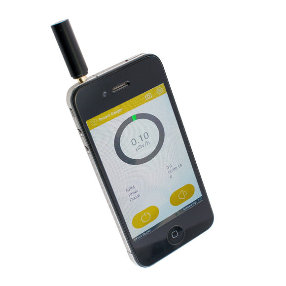 Smart Geiger Radiation Phone Counter nuclear Gamma, X-ray for iOS Android