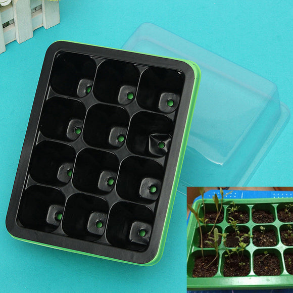 Durable 12 Cells Hole Nursery Pots Plant Seeds Grow Box Tray Insert Propagation Seeding Case Flower Pot Sprout Plate Greenhouse