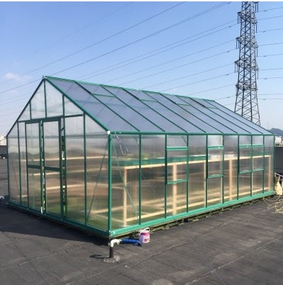 WHOLESALE x10 2.6m width Cold Frame Greenhouses in Aluminum Bracket Frame and Polycarbonate Panels with double Slide Door