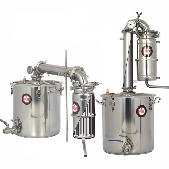 45 L Distiller Stainless Steel Still Kit  distillation russian Moonshine vodka home wine alcohol samogon brewery vodka whisky