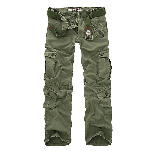 Mens Cargo Pants For Men Military Trousers Casual Cotton Camouflage Pants Plus Size 28-40