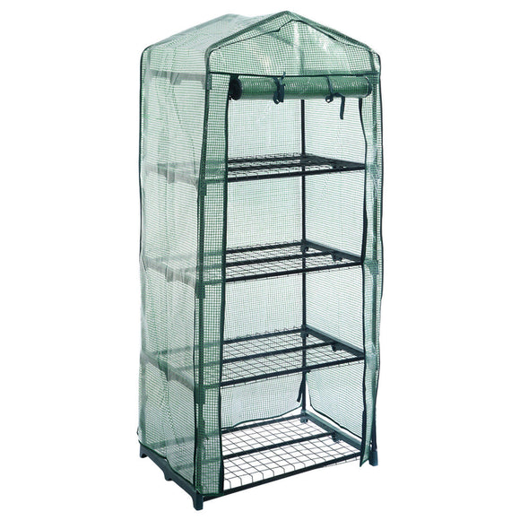 Tiny Greenhouse Tier Outdoor Garden  Grow Cold Frame W/Shelving & Reinforced Cvers