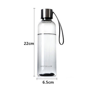 New Sports Water Bottle  500ml Outdoor Camping Portable Sport Travel Plastic Fruit Juice Bottle
