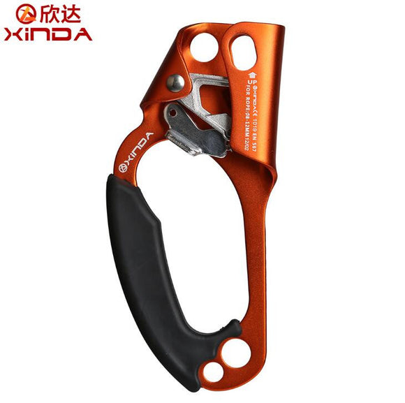 XINDA Professional Outdoor Rock Climbing left Hand Ascending Device Mountaineer Handle Ascender Climb Rope Tool