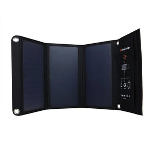 Xionel 21W Portable Solar Charger with Dual USB Port Solar Panel