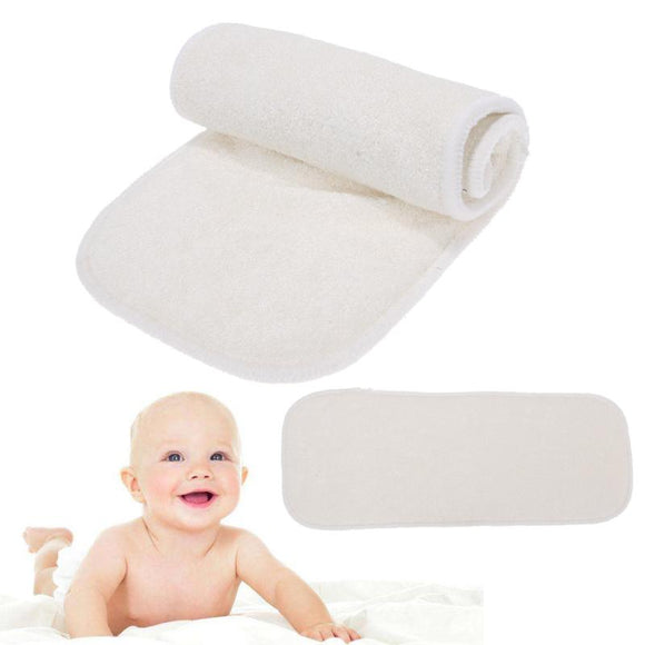 Reusable Newbrons Baby Diapers 4-Layer Bamboo Fiber Insert Soft Washable Infant Baby Changing Cloth Nappy Diaper
