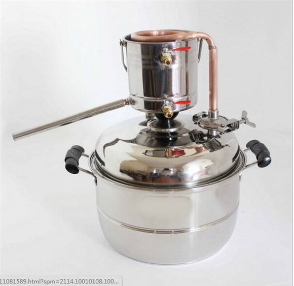 Bar Home Wine Juice Floral Water Distiller Brewery Equipment Maker Alcohol Whisky MOONSHINE 10L