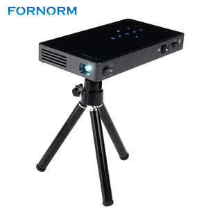 FORNORM Mini Wifi Smart DLP Projector Full HD Projector Built in 5000mAh Battery Bluetooth Projector HDMI/USB for Movie Business