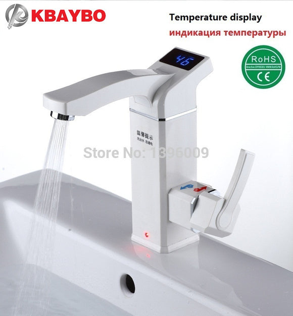 WATER FILTRATION: 3500W Electric Instant Water Heater Tap Instantaneous Electric Hot Water Faucet Tankless Heating Bathroom Kitchen Faucet