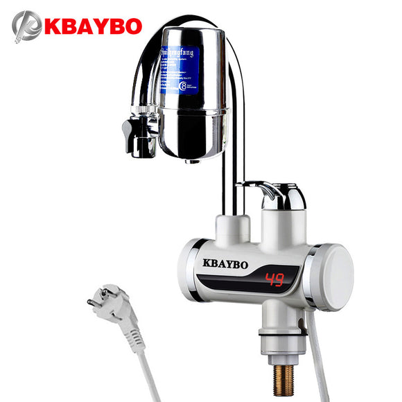 Water Filter- Tankless heater: 3000W Instant electric Water Heater Tap Kitchen faucet water filter 2 kinds of outlet mode can be consumed directly