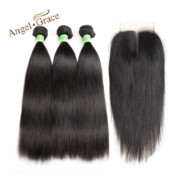 3 Bundles of 10-26 Inch Brazilian Straight Remy Human Hair