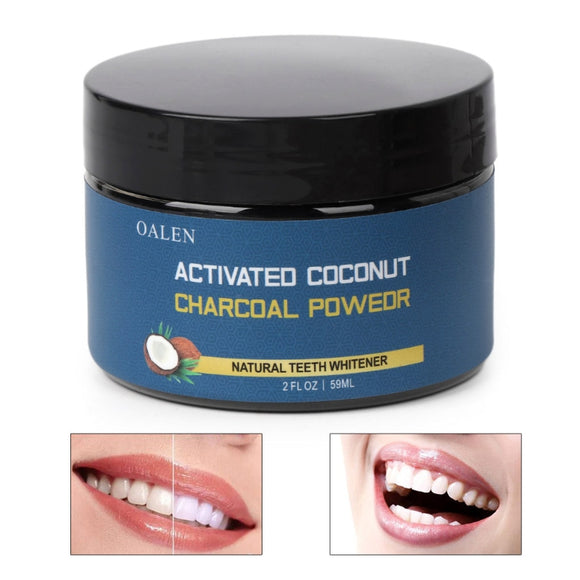 59g Coconut shell Activated Charcoal Carbon Tooth Teeth Whitening Powder Natural Teeth Whitener Dental Oral Hygie New