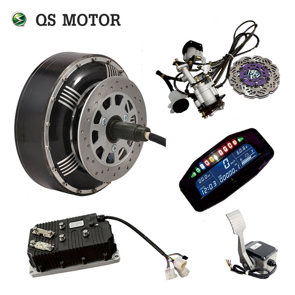 2 MOTORS FOR THE PRICE OF ONE QSMOTOR Electric Car Conversion Kit for 8000W 4X100mm, 5X114.3mm Rims