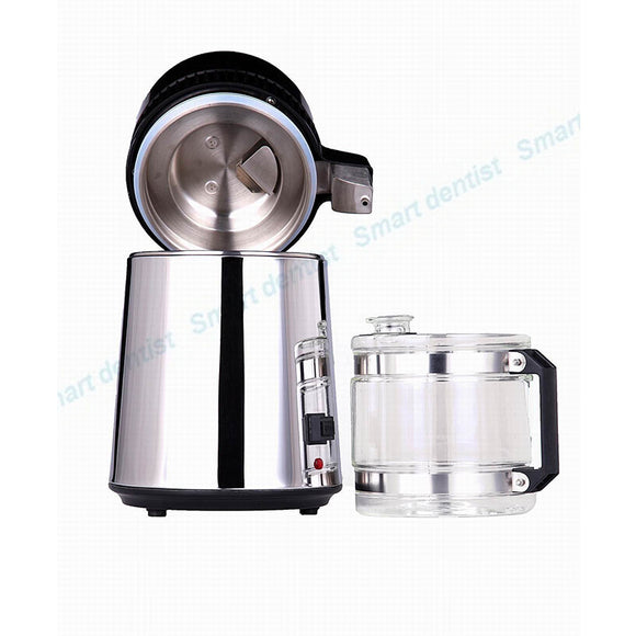 4L Spirit/Water Distiller Water Purifier with Filter and Stainless Glass Bottle