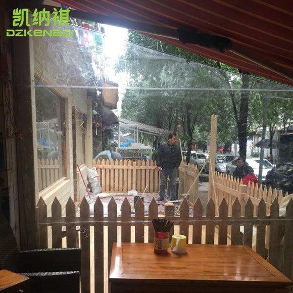Customized Size Transparent soft glass film used as Wind and Water-resistant Awnings / Greenhouses / Garden Sun Room / Gazebos