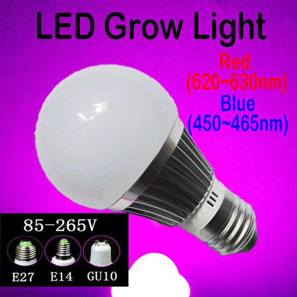 Red & Blue Full Spectrum LED Grow Light Bulbs for Accelerate Plants Seedling Growth and Flowering In Grow Tent Greenhouse