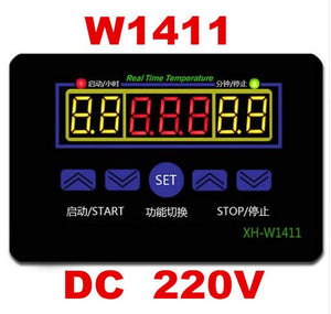 W1411 AC 220V 10A LED Digital Temperature Controller Thermostat Control Switch Sensor For Greenhouses Aquatic Animal Husbandry