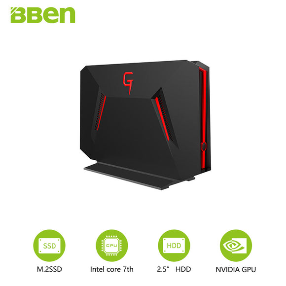 Ultimate Gaming Desktop Bben fast boot quad core I7-7700HQ NVIDIA GEFORCE GTX1060 8GB/16GB RAM 128GB/256GB/1TB