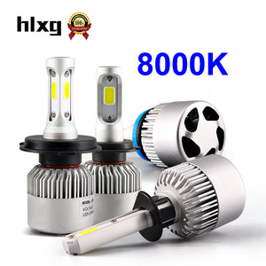 GET RID OF THOSE OLD FASHIONED CAR HEADLAMPS RIDE WITH LED HEADLIGHTS BLUE 8000K 12V H7 H11 H1 H4 8000LM/Set 72W Auto 9005 HB3 9006 HB4 Led Headlamp Conversion Kit N39