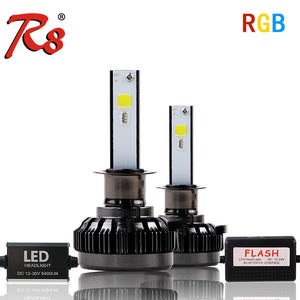 Color Change Headlights:  ANY COLOR LED HEADLIGHTS FOR YOUR CAR TODAY APP Bluetooth RGB Color Remote Control Car Head Lamp LED Headlight Bulbs H1 H7 H11 H4 40W 6000LM COB Chips