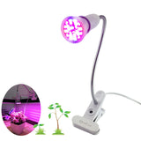 Full spectrum UV Led Indoor Grow Light For Plant Flower Seedling Growing bulbs Hydroponic greenhouse +Flexible Lamp Holder Clip