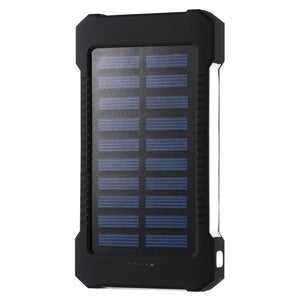 30000mah  Waterproof Portable Solar Power Bank- Phone Battery Charger LED Pover Bank
