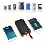 15000mAh USB Solar Power Bank Portable External Battery Charger with Electric Cigarette Lighter