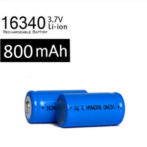 2 x Rechargeable CR123A 16340 800mAh 3.7V Li-ion batteries