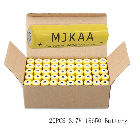 20pcs of 18650 Rechargeable Li-ion 9800mAh 3.7V Lithium Batteries for LED Flashlight, Lasers, and more.