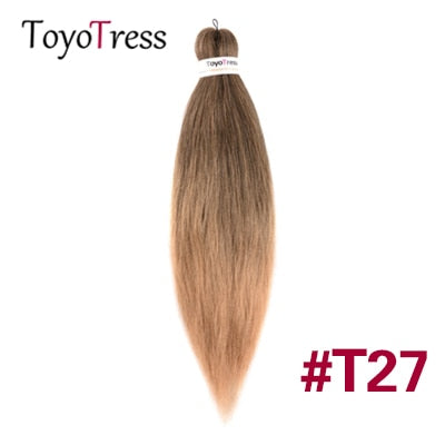 Toyotress Synthetic Hair For Braid Pre Stretched Crochet Box Braid Hair Extensions One Pack Two Pack 16-30inch Kanekalon Hair
