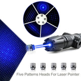 Powerful 3W and 5w Blue Laser Kits 450nm Focusing w. Case with Acrylic Laser Sword/ Light Saber (3 Colors)