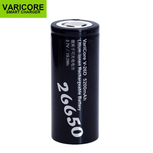 1-10PCS VariCore 26650 Li-ion Batteries 3.7V 5200mA