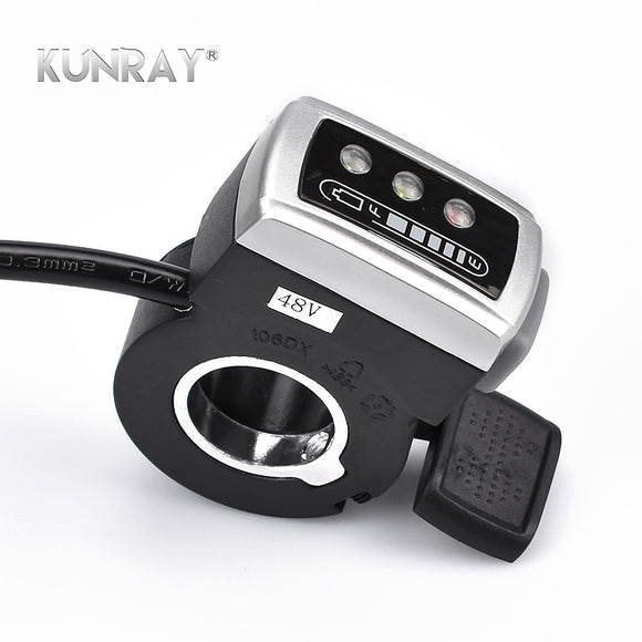 36VLi 48VLi Thumb Throttle With ON-OFF Switch And Battery Indicator Electric Scooter Ebike Finger Throttles RoHS