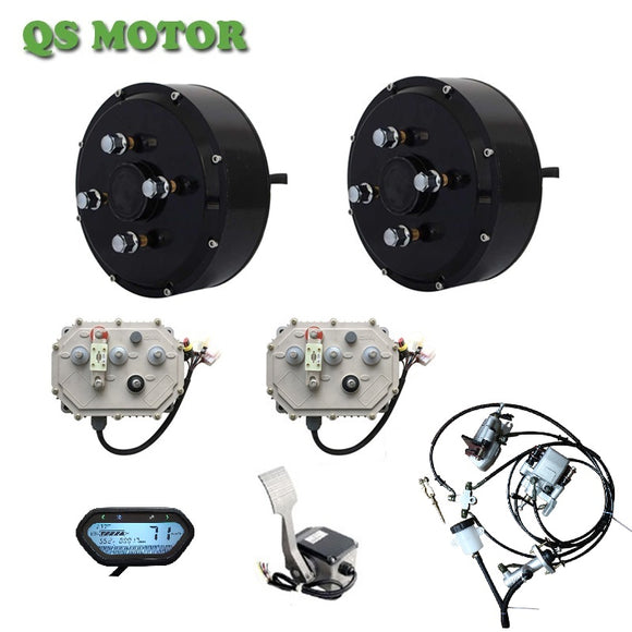 2WD 3000W Hub Motor Light Electric Car Conversion Kits