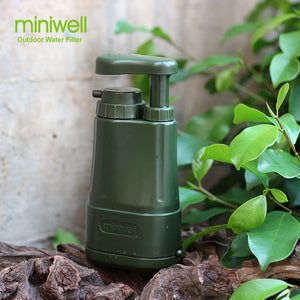 Portable water purifier for camping hiking fishing,emergency/disaster preparedness, survival water filter/filtration system