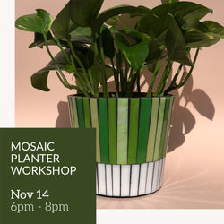 Mosaic planter workshop
