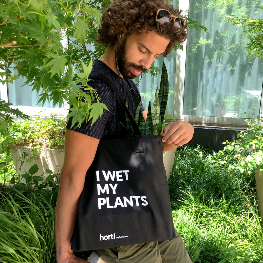 I Wet My Plants Waxed Tote