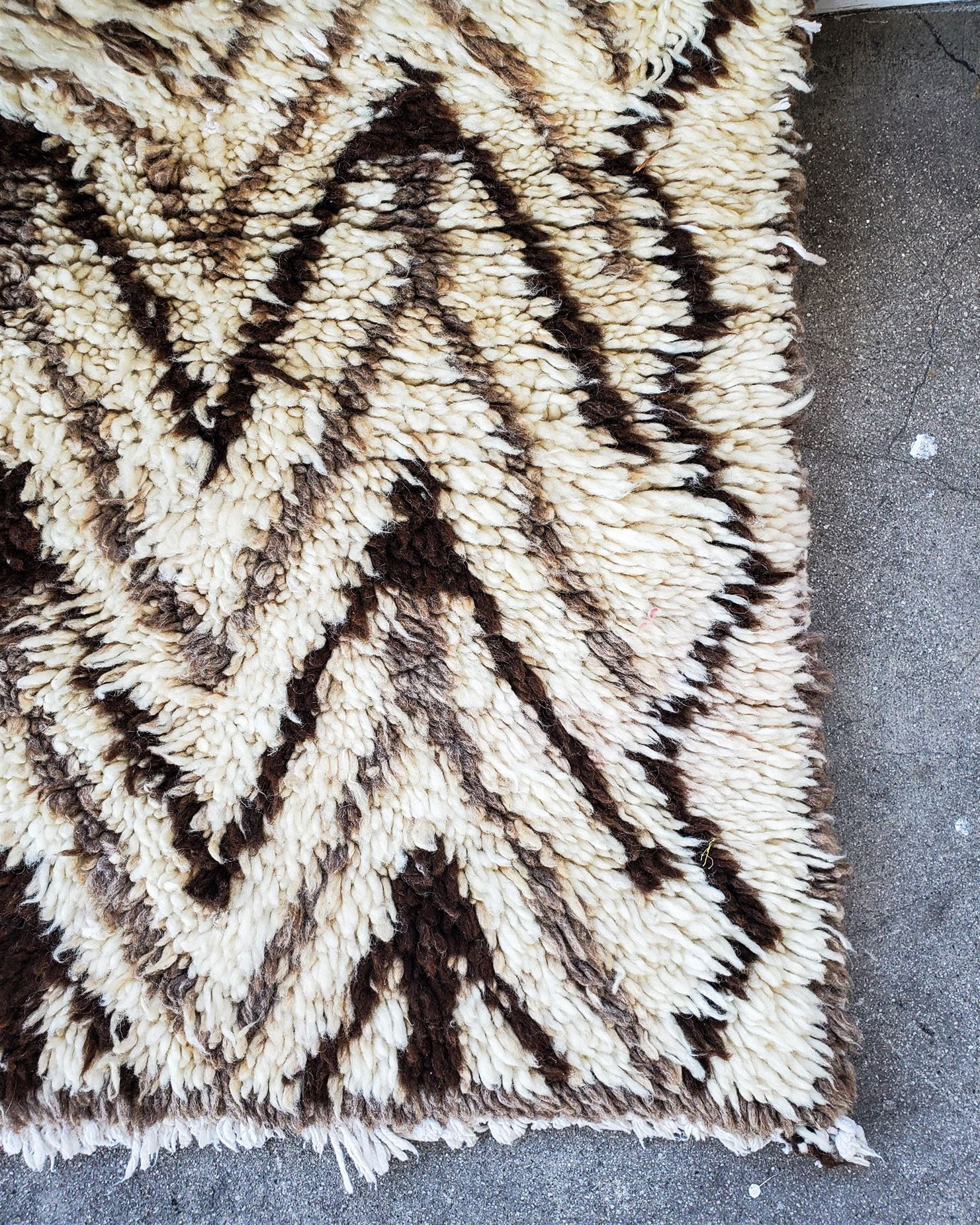 LAURENT Vintage Moroccan Runner / Rug - Indio White