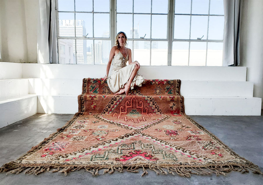 SUZANNE Vintage Moroccan Rug - Indio White