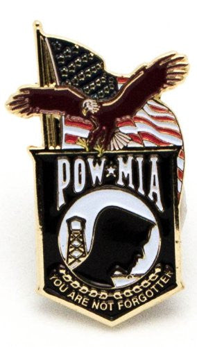 POW MIA US Flags Lapel Hat Pin Authentic American Eagle Military Lapel Pin - USA Veteran - Flags Lapel Hat Pin Genuine American Eagle Lapel Pins Made To Jewelry-Like Finish - Long-Lasting Durability Made In USA For Military-POW MIA Emblem Mint