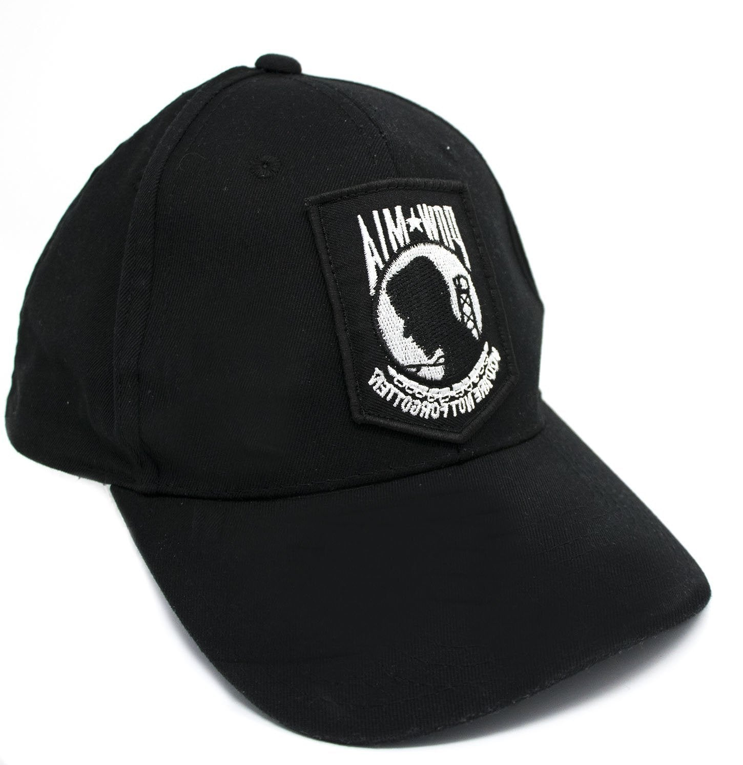 POW MIA Hat w/BONUS#1 3 Ft. X 5 Ft. POW-MIA Flag BONUS#2 POW-MIA Embroidered Patch - POW MIA Emblem Mint