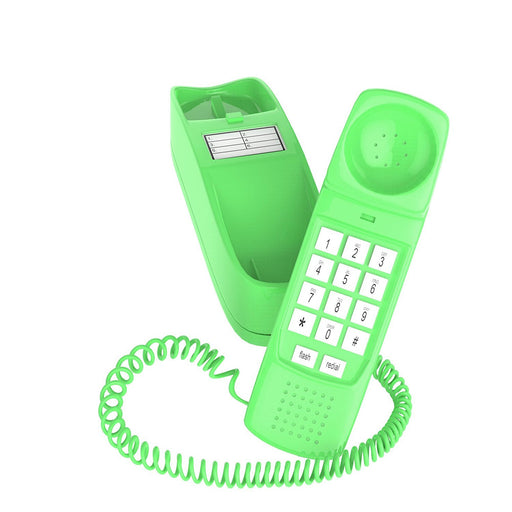 Trimline Corded Phone - Phones For Seniors - Phone for hearing impaired - Earth Day Green - Retro Novelty Telephone - An Improved Version of the Princess Phones in 1965 - Style Big Button-iSoHo Phones
